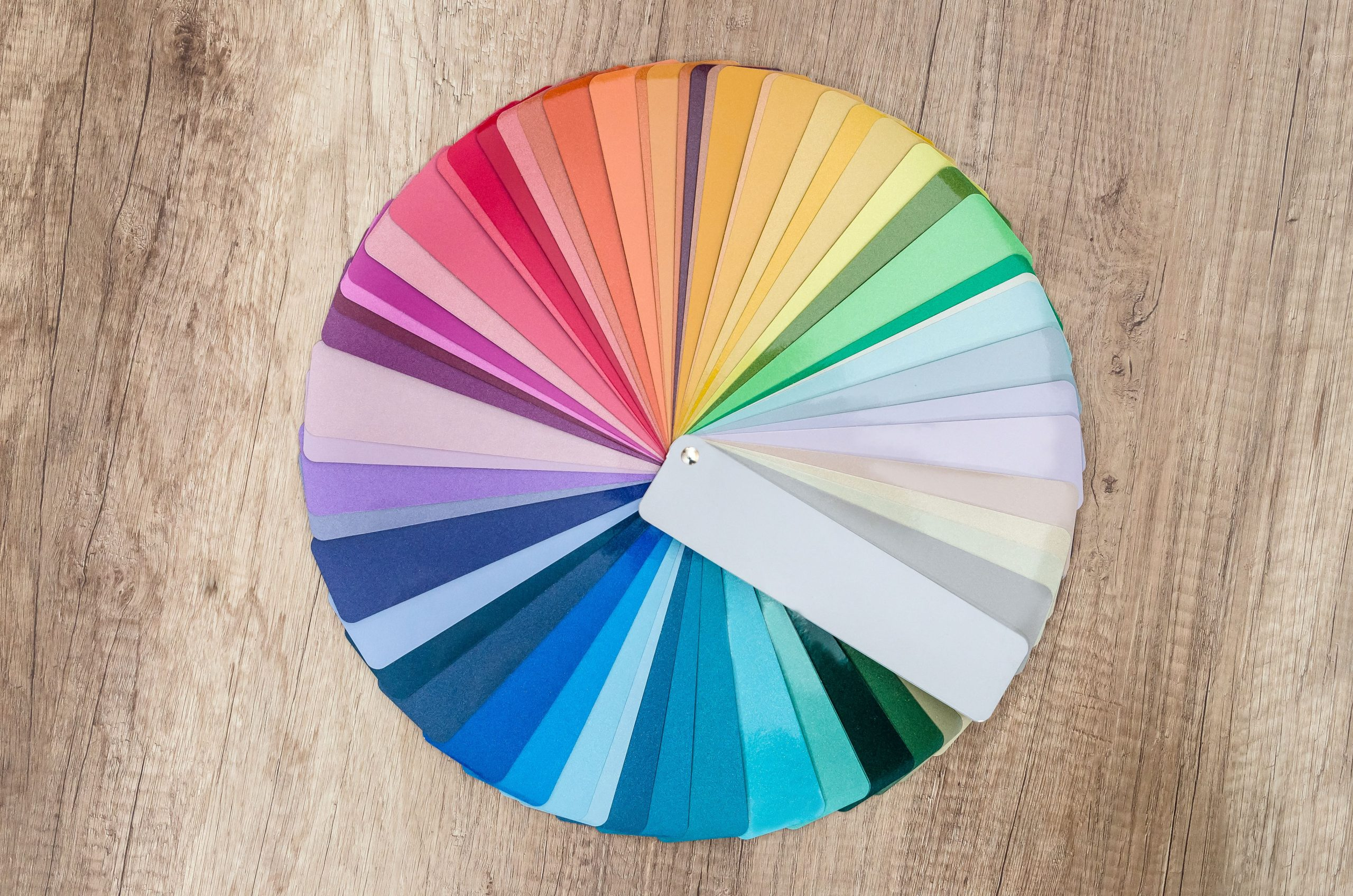 blog image of paints in color wheel