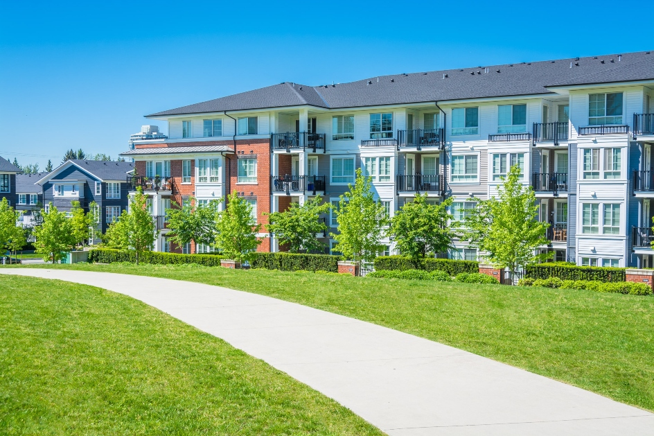 blog image of modern, updated apartment building with good ROI